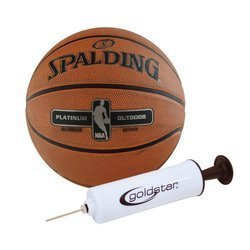Spalding NBA Platinium Streetball Outdoor Basketball + Pump