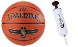 Spalding Platinum ZK Legacy Indoor Basketball + pump Goldstar