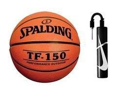 Spalding TF-150 Fiba Basketball + Nike Essential Dual Action Ball Pump