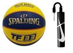 Spalding TF-33 Official game ball out Basketball + Nike Essential Dual Action Ball Pump