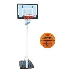 Spartan Portable Basketball Stand 1158 + Spalding Official Game Ball