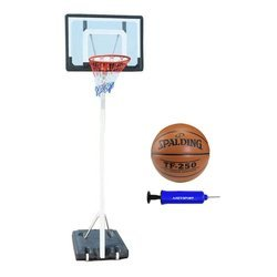 Spartan Portable Basketball Stand - 1158 + Spalding TF-250 + pump