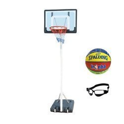 Spartan Portable Basketball Stand + Junior Basketball + Dribble Specs