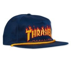 Thrasher Flame Rope Snap NVY Cap