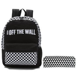 VANS Central Realm Backpack-VN0A3UQSBLK + Pencil Pouch