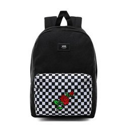 VANS New Skool Checkerboard Backpack Custom Red Rose - VN0002TL2OB