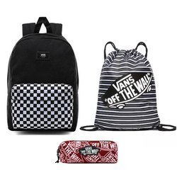 VANS New Skool Checkerboard Batoh + Pancil Pouch + Benched Bag