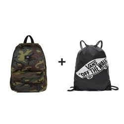 VANS Old Skool II Classic Camo/Black Backpack - VN000ONIJ2R 810 + Sports Bag