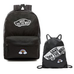 VANS Realm Backpack Custom Dolphin Custom Rainbow + Benched Gymsack