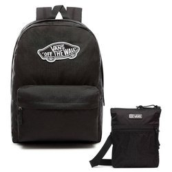 VANS Realm Backpack - VN0A3UI6BLK + Easy Going Crossbody