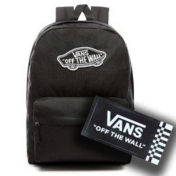 VANS Realm Backpack + sticker | VN0A3UI6BLK