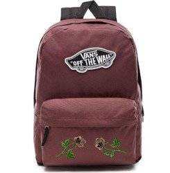 VANS Realm - Catawba Grape Backpack Custom Roses - VN0A3UI6ALI