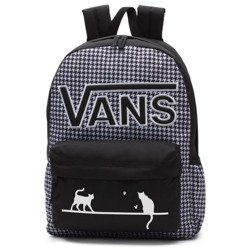 VANS Realm Flying V Backpack - Houndstooth Black/White | VN0A3UI8YER 006 - Custom Cats