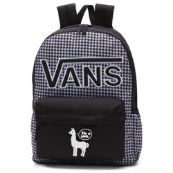 VANS Realm Flying V Backpack - Houndstooth Black/White | VN0A3UI8YER 006 - Custom Lama