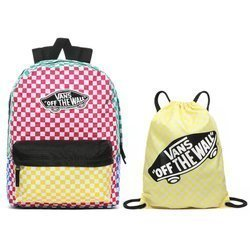 Vans Checker Block Backpack - VN0A3UI6ZL1 + Benched Bag