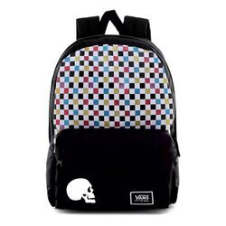 Vans Glitter Check Realm Backpack Custom Skull - VN0A48HGUX9