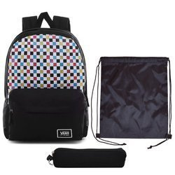 Vans Glitter Check Realm Backpack - VN0A48HGUX9