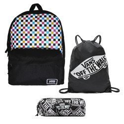Vans Glitter Check Realm Backpack - VN0A48HGUX9 + Bag + Pancil Pouch
