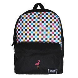 Vans Glitter Check Realm Backpack - VN0A48HGUX9 - Custom Flamingo