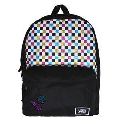 Vans Glitter Check Realm Backpack - VN0A48HGUX9 - Custom Magic Rose