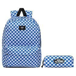 Vans Old Skool III Victoria Blue Check Backpack + Pencil Pouch