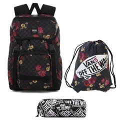 Vans Ranger Botanical Check Backpack - VN0A3NG2UWX + Bag + Pancil Pouch