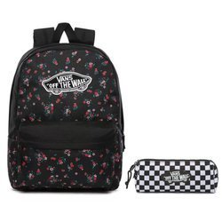 Vans Realm Beauty Floral Black Backpack - VN0A3UI6ZX3 + Pencil Pouch