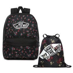 Vans Realm Beauty Floral Black Batoh - VN0A3UI6ZX3 + Benched Bag