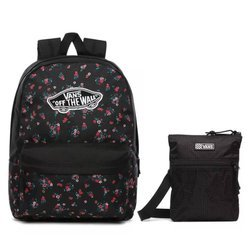 Vans Realm Beauty Floral Black Batoh - VN0A3UI6ZX3 Easy Going Crossbody