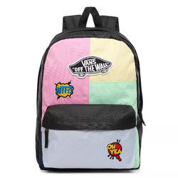 Vans Realm Checkwork Backpack Custom Speech Balloons - VN0A3UI6VDK