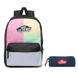 Vans Realm Checkwork Backpack - VN0A3UI6VDK + Pencil Pouch