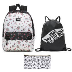 Vans Realm Classic Beauty Floral Patchwork Backpack + Bag + Case