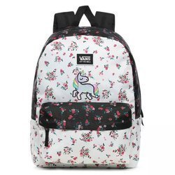 Vans Realm Classic Beauty Floral Patchwork Backpack Custom Unicorn