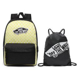 Vans Realm Lemon Tonic Checkerboard Backpack + Benched Bag