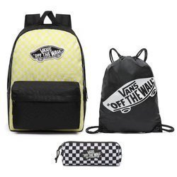 Vans Realm Lemon Tonic Checkerboard Backpack + Pencil Pouch + Bag