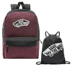 Vans Realm Prune Purple Black Backpack - VN0A3UI6TQR + Bag