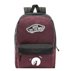 Vans Realm Prune Purple Black Backpack - VN0A3UI6TQR - Custom Halloween Cat