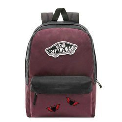 Vans Realm Prune Purple Black Backpack - VN0A3UI6TQR - Custom Hearts