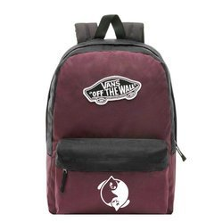 Vans Realm Prune Purple Black Backpack - VN0A3UI6TQR - Custom Yin Yang Cats