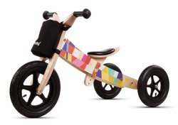 Wooden balance bike 2w1 twist mosaic - E02.003.1.2