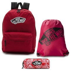 Vans Realm Biking Red Backpack - VN0A3UI61OA+ Bag + Pancil Pouch