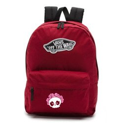 Vans Realm Biking Red Backpack - VN0A3UI61OA - Custom Cute Skull