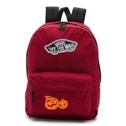 Vans Realm Biking Red Backpack - VN0A3UI61OA - Custom Halloween Pumpkins