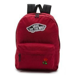 Vans Realm Biking Red Backpack - VN0A3UI61OA - Custom Red Rose