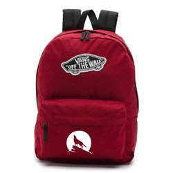 Vans Realm Biking Red Backpack - VN0A3UI61OA - Custom Wolf