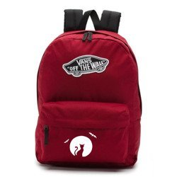 Vans Realm Biking Red Backpack - VN0A3UI61OA - Halloween Cat