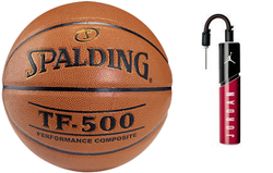 Spalding Basketball NBA TF - 500 Basketball - 3001503010 + Air Jordan Essential Ball Pump