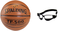 Spalding Basketball NBA TF - 500 Basketball - 3001503010 + Dribble Specs No Look Basketball Eye Glass Goggles