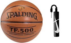 Spalding Basketball NBA TF - 500 Basketball - 3001503010 + Nike Essential Dual Action Ball Pump