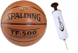 Spalding Basketball NBA TF - 500 Basketball - 3001503010 + Pump